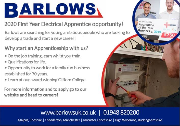 Barlow Electrical Apprenticeship Information